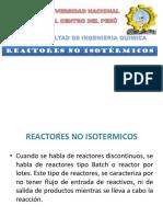 Reactor No Isotermicos