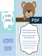 Invitacion - Baby Shower Octavio