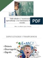 Dificultades y Trastornos en El Aprendizaje y La