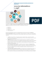 Artcl -Gestion de Proyectos Informaticos, Tradicional o Agil, 2016