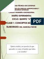 Clase 1. Conceptos Básicos de Diseño Experimental