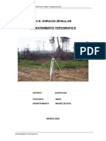 Informe Topografico CE HORACIO