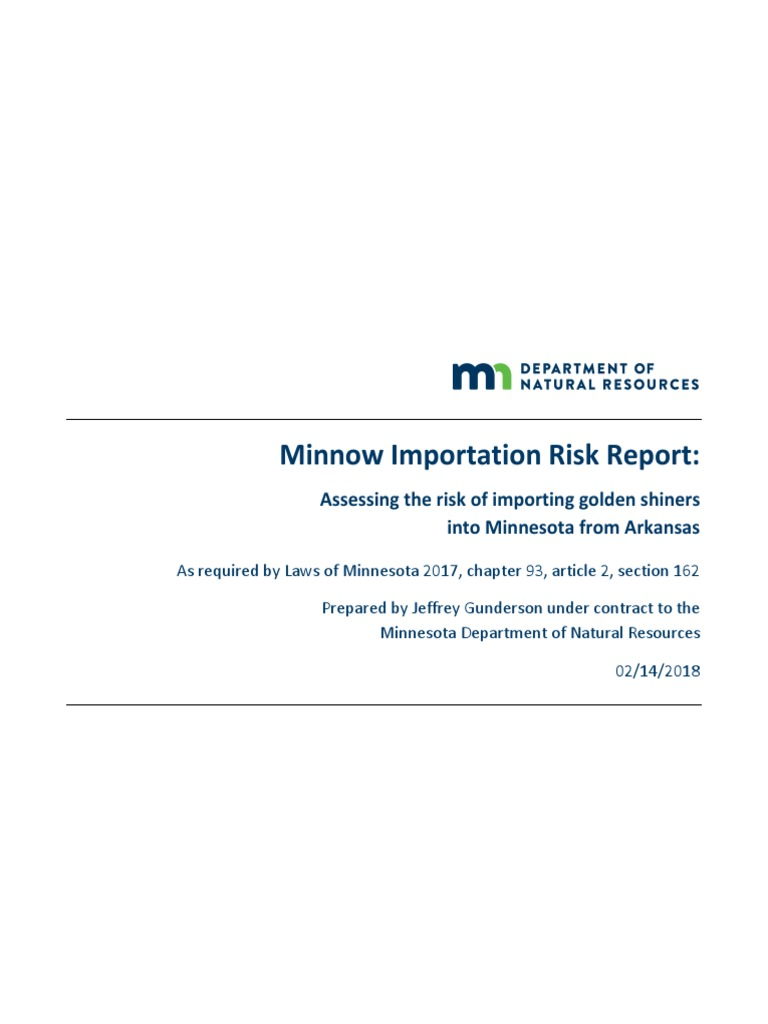 Minnow Importation Risk Report: Assessing the risk of importing