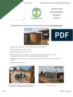 Construcción de Una Cisterna de Ferrocemento en La Granja Tierramor