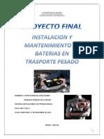 Instalación y mantenimiento de Baterías en transporte pesado