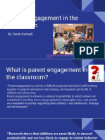 parent engagment in the classroom presentation
