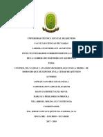 ANALISIS MICROBIOLÓGICO EN BEBIDA DE MOROCHO