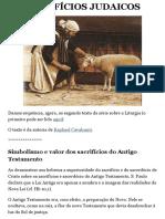 OS SACRIFÍCIOS JUDAICOS | Pela Fé Católica