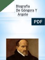 Biografía de Luis de Gongora y Argote
