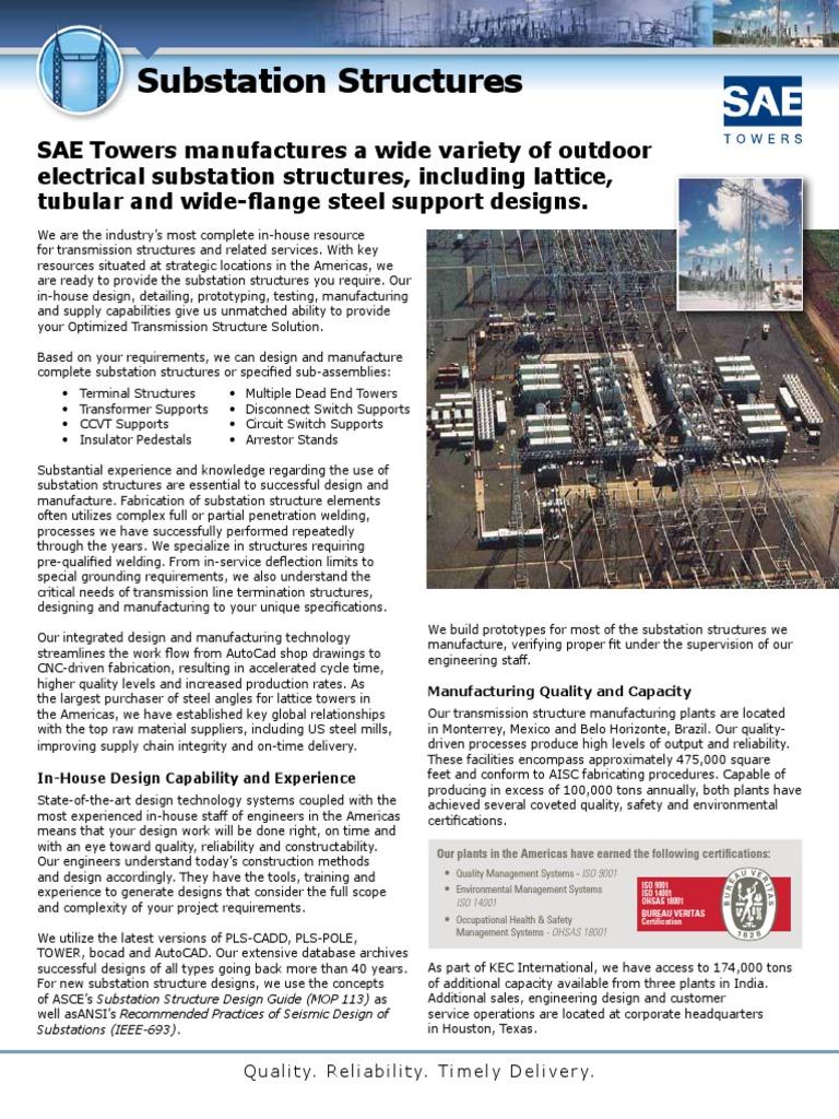 Substation Brochure E | Electrical Substation | Structural Steel
