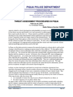 Piqua Threat Assessment Procedures