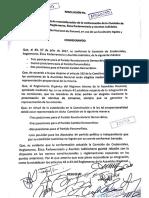 Resolución que Reconfigura La Comisión de Credenciales