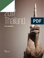2017 Tax Calendar Thailand