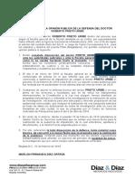 Prieto pide aplazar imputación de cargos en su contra por irregularidades