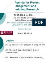 An Agenda for Project Management and Scheduling Research