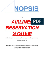 103 Airlines Reservation System Synopsis