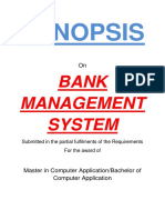 101 Bank Management System Synopsis