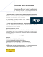 Distribución Binomial Negativa o Pascalina