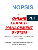 115-Online Library Management System-Synopsis