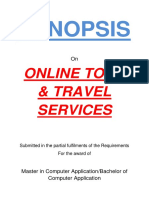 117-Online Tour and Travel Services -Synopsis