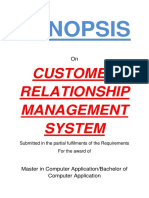 111 Customer Relationship Management Synopsis