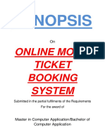 121-Online Movie Ticket Booking System -Synopsis
