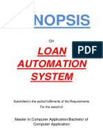 128-Loan Automation System -Synopsis