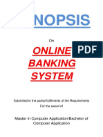 129-Online Banking System -Synopsis