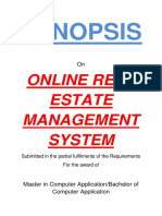 136-Online Real Estate Management System -Synopsis