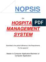 139-Hospital Management System -Synopsis