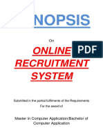 142-Online Recruitment System -Synopsis