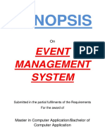 145-Event Management System -Synopsis