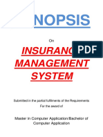 150-Insurance Agency Management System -Synopsis