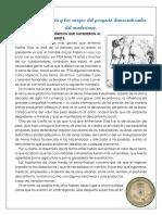 La Crisis Porfirista y Los Rasgos Del Proyecto Democratizador Del Maderismo