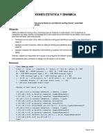 Conexiones de Red Estatica y Dinamica - Modelo