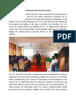 Entrepreneurship Awareness Camp, Jagan Nath University, Bahadurgarh, Haryana 21-22 February, 2018