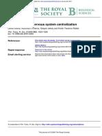 The Evolution of Nervous System Centralization