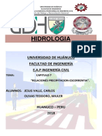 HIDROLOGIA-ESCORRENTIA