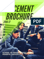 Placement Brochure School of Management 2016