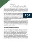 Agen Judi Poker Online Bonus Terbanyak 2018