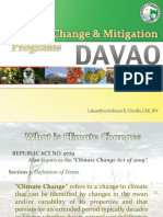 Climate Change and Mitigation Programs in Davao City