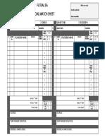 Futsal-SA Official Match Sheet