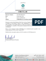 Circular Wht on Booking Commission