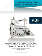 LABORATORY 5. Automations Using Ultrasonic Snesor and DC Motor