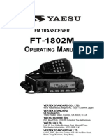 Yaesu FT-1802 Operating Manual