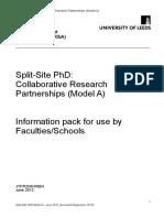 Split Site Information PackA