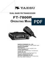 Yaesu FT-7800R Operation Manual