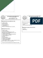 Lista de material 3.ºA e B