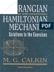 Lagrangian and Hamiltonian Mechanics Solutions to the Exercises