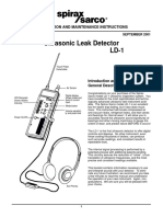 UltraSonic Leak Detector LD-1-Installation Maintenance Manual